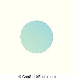 Blue round paper sticker