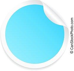 Blue round sticker
