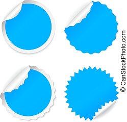 Blue round vector sticker