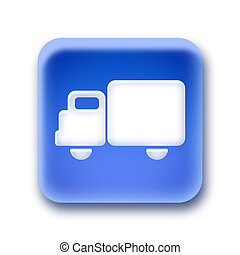Blue rounded square button - cargo