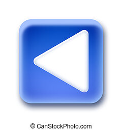 Blue rounded square button - Left