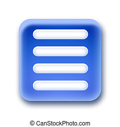 Blue rounded square button - Menu