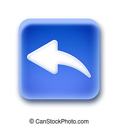 Blue rounded square button - Reply