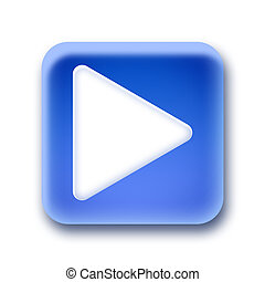 Blue rounded square button - Right