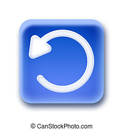 Blue rounded square button - Undo