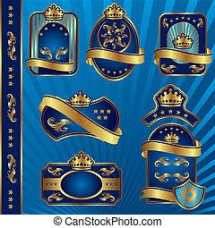 blue royal labeles blanck