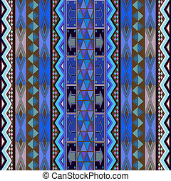 Blue rug design - Colored texture with african traditional...
