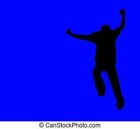 Blue Run Away! - with clipping path
