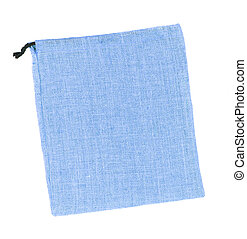 Blue sackcloth bags isolated on white background
