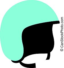 Blue safety helmet icon isolated