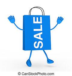 Blue sale bag
