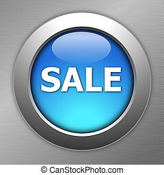 blue sale button