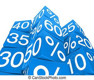 blue sale cube tower