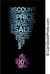 Blue sale discount poster