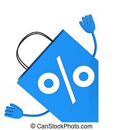 Blue sale percent bag wave