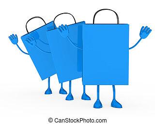 Blue sale percent bags wave