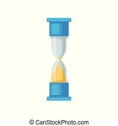 Blue sand hourglass, sandglass device for measuring time...