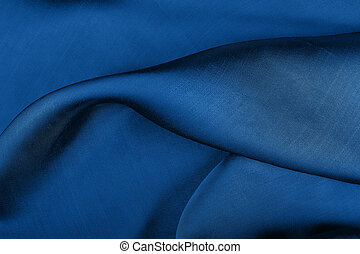 Blue satin background in the color of year 2020