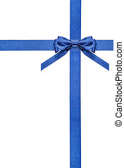 blue satin bows and ribbons isolated - set 5