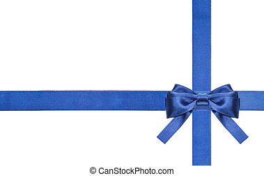 blue satin bows and ribbons isolated - set 7 - one blue...