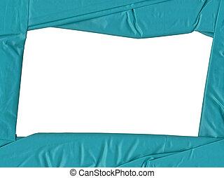 blue satin frame