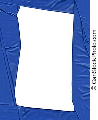blue satin frame