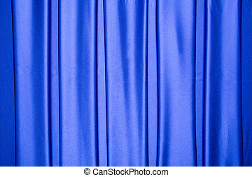Blue satin repeated stripes pattern - The blue satin is...