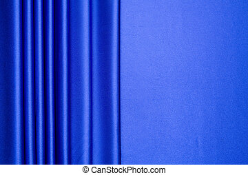 The blue satin is arranged in stripes pattern with more than half for copy space, can be use for background, card design, etc.