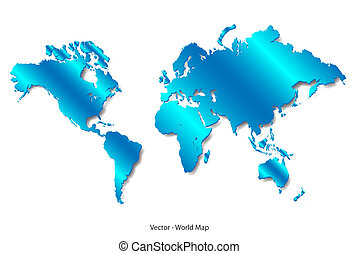 Blue Satin World Map