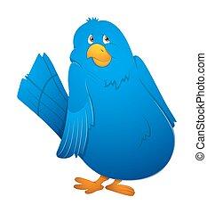 Blue Scared Bird