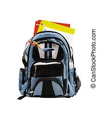 Blue School Back Pack full of school supplies - Blue school...