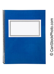 Blue school textbook