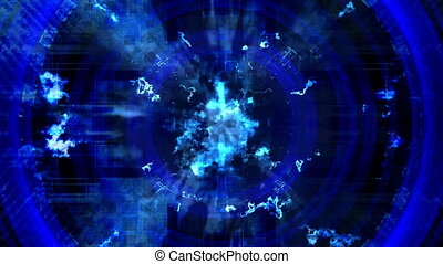 Blue science fiction abstract VJ looping animated CG background