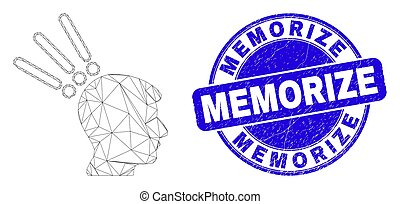 Blue Scratched Memorize Stamp and Web Carcass Test Head