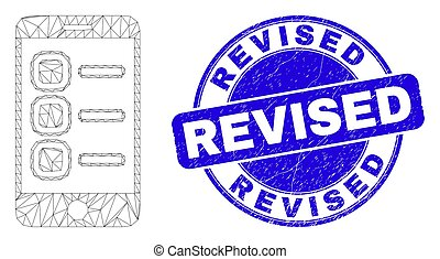 Blue Scratched Revised Stamp and Web Carcass Smartphone ...