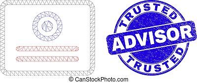 Blue Scratched Trusted Advisor Stamp Seal and Web Carcass ...