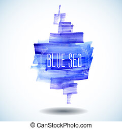 blue sea abstract watercolor background