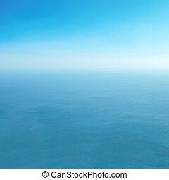Blue sea and clear sky