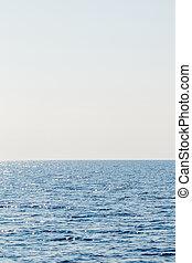 Blue sea and clear sky. Caribbean sea.
