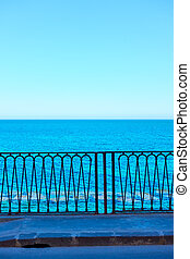 Blue sea and seafront in Syracuse, Sicily Island, Italy -- ...