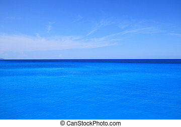 Blue sea and sky horizon background