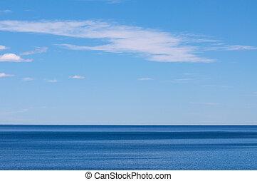 Blue sea and sky - Sea horizon