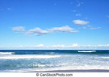Blue sea and sky