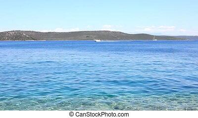 Blue sea coastline - Coastline of the blue Adriatic Sea,...