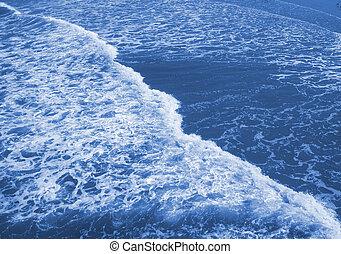 Blue Sea Foam - Cool looking sea foam rolling on the top of...