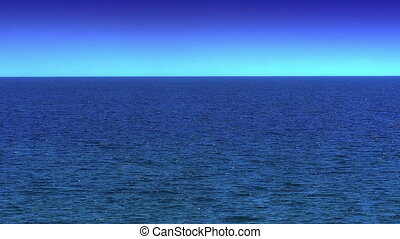 blue sea horizon