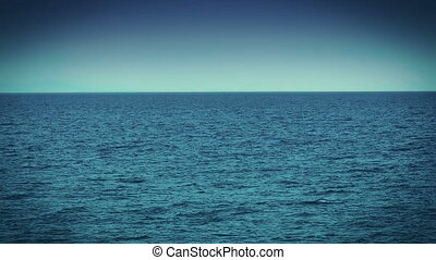 blue sea horizon