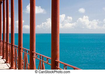 Blue sea in Bermuda
