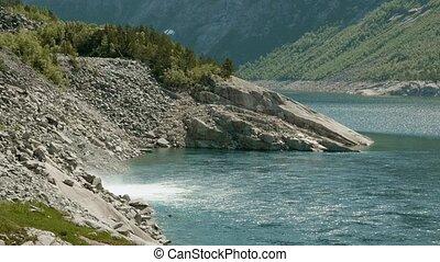 Blue sea in Norway