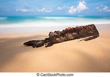 blue sea long exposure